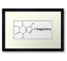 Caffeine = Happiness Framed Print