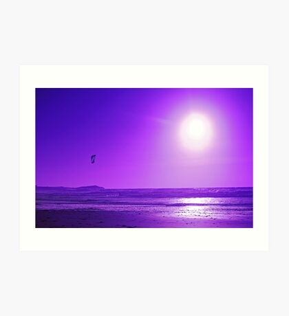 purple kite surfer Art Print