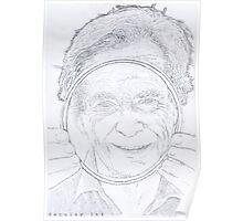 Richard Feynman Pencil Poster