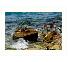 Reclaimed by the sea Art Print
