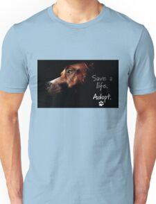 Tchoko says Please Adopt! Unisex T-Shirt