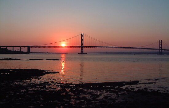 The Forth Road Bridge at Sunset by Tom Gomez