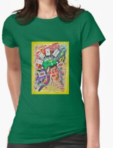 Play or gamble Womens Fitted T-Shirt