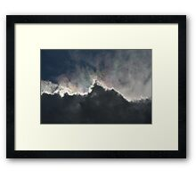 Cloud With A Rainbow Lining  Framed Print