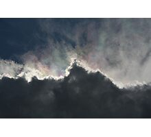 Cloud With A Rainbow Lining  Photographic Print