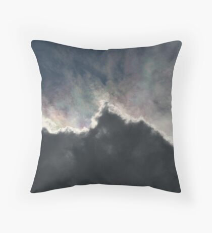 Cloud With A Rainbow Lining  Throw Pillow