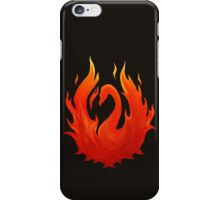 Swan on Fire (Color) iPhone Case/Skin