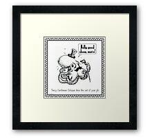 Fancy Gentleman Octopus Framed Print