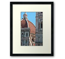 Duomo and Campanile Tower, Florence Framed Print