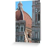Duomo and Campanile Tower, Florence Greeting Card