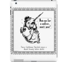 Fancy Gentleman Narwhal iPad Case/Skin