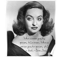 Bette Davis quote Poster