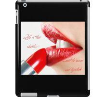Red Lipstick iPad Case/Skin