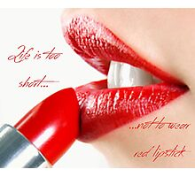 Red Lipstick Photographic Print