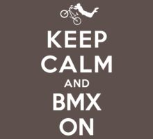 Keep Calm and BMX On Kids Clothes
