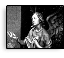 May an angel guard your way Canvas Print