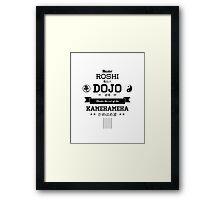 Master Roshi Dojo v2 Framed Print
