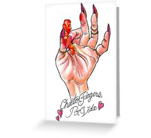 Hot Cheeto Fingers Por Vida  Greeting Card