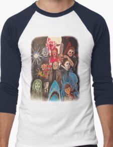 70s/80s Horror Men's Baseball ¾ T-Shirt