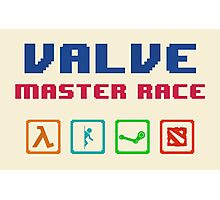 VALVE master race Photographic Print