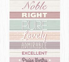 Wood effect, Strippy, Bright, Colourful, Happy Bible Verse. by TheFinerThemes