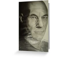 picard from star trek Greeting Card