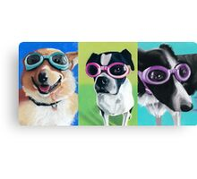 Dogs in Goggles Canvas Print