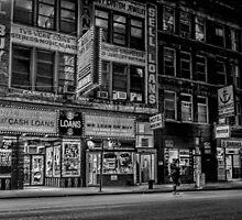 A seedy city night scene by Sven Brogren