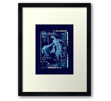 Ruby Blueprint Framed Print