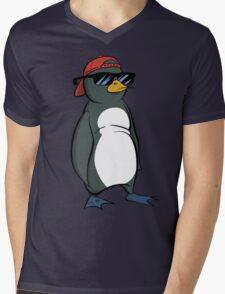 Cool Penguin Mens V-Neck T-Shirt