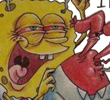 Sponge Bob Stoned Pants Sticker