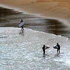 kids at the beach by Karen Rich