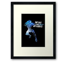 Mass Effect Silhouettes, Garrus - Don't Wait, Just Calibrate! Framed Print