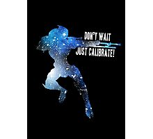 Mass Effect Silhouettes, Garrus - Don't Wait, Just Calibrate! Photographic Print