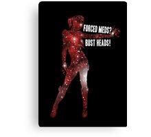 Mass Effect, Jack - Forced Meds? Bust Heads! Canvas Print