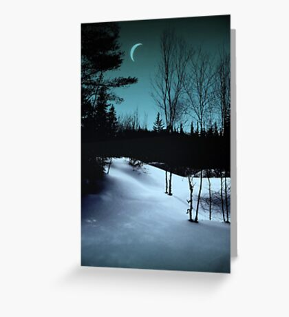 Between day and night. Greeting Card