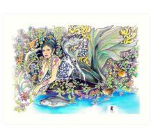 tropical fantasia - contentment Art Print