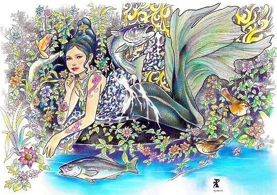 tropical fantasia - contentment by John R.P. Nyaid