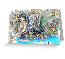 tropical fantasia - contentment Greeting Card