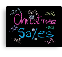 Sales conceptual image Canvas Print