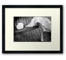 Fifties dress Framed Print