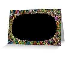 Colorful frame  Greeting Card