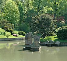 Japanese Pond by Jim Caldwell