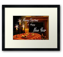 Merry Christmas & Happy New Year Framed Print