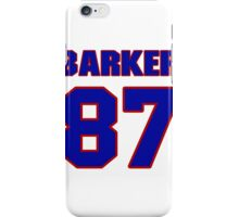 National football player Ed Barker jersey 87 iPhone Case/Skin