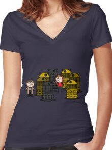 Doctor to the rescue. Women's Fitted V-Neck T-Shirt