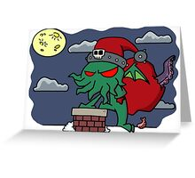 Cthulu Claus Greeting Card
