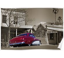 The red Ford Mercury Poster
