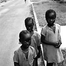 kids in street, kachikally by Angus Beare