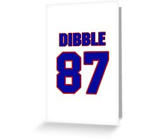 National football player Dorne Dibble jersey 87 Greeting Card
